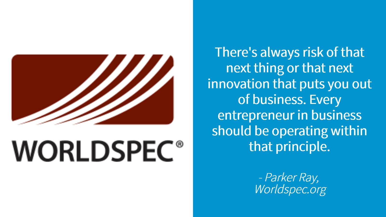 Worldspec logo