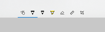 Toolbar found in Snip & Sketch for Windows.