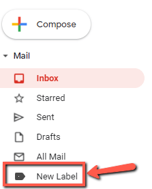 new label gmail