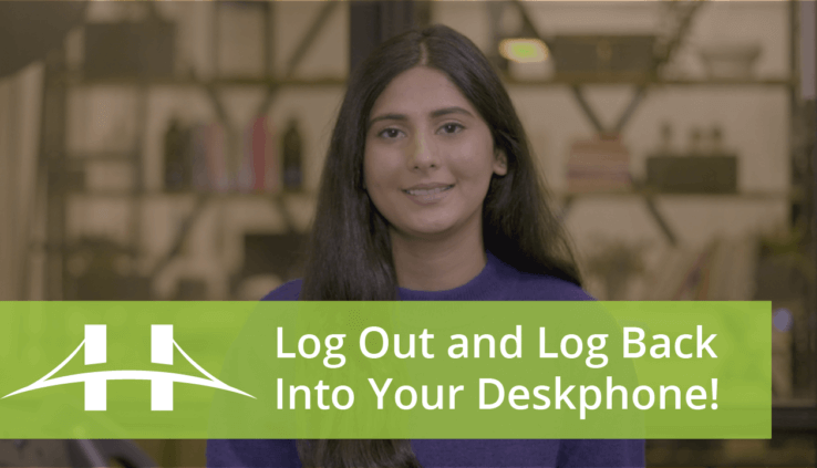 How to Log Out and Log Back In To Your Desk Phone